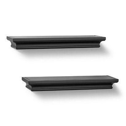 "Threshold™ Set of 2 Traditional Shelves - Black (15.75"")"