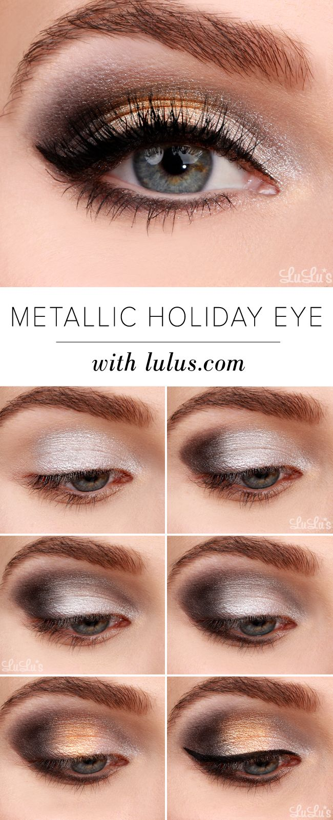 We're popping bottles and toasting to a glamorous new year with this week's Metallic Holiday Eyeshadow Tutorial in our beauty repertoire!