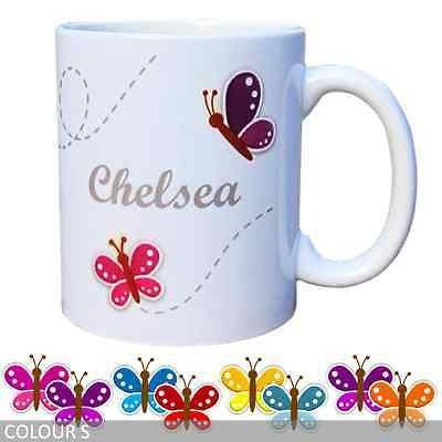 Personalised Butterfly Coffee Mug