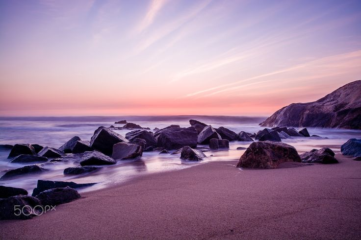 Cotton waves - Image with ND 8 filter to the sea in Vila Nova de Gaia, Portugal.