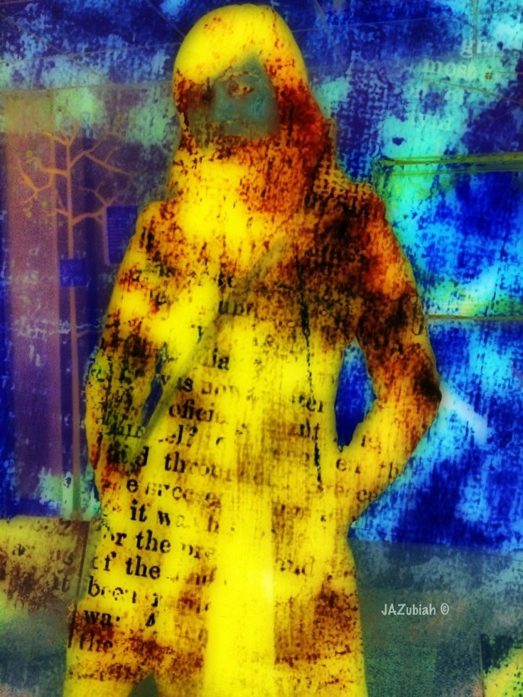 Picture of an ex work colleague taken with my iPhone and then manipulated using various apps.