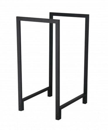 Brændestativ imoderne sort metal design
