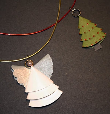 circle paper punched tree & angel