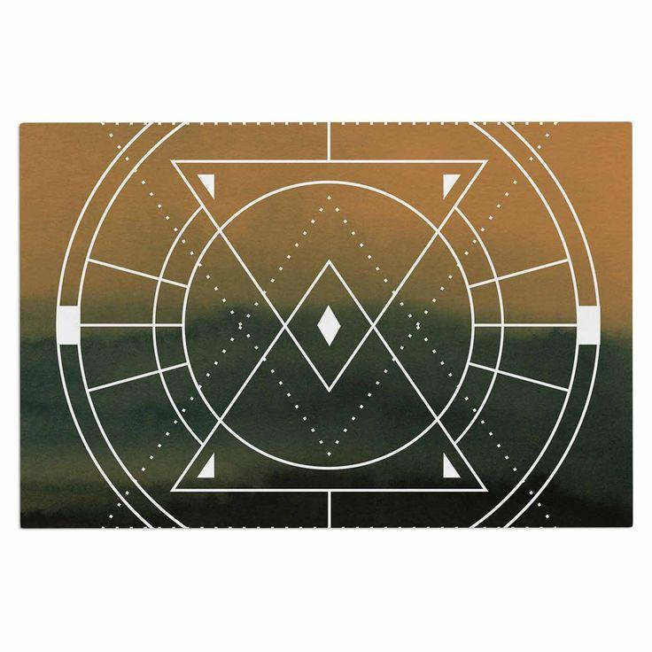 """Matt Eklund """"Lost City"""" Tan Geometric Decorative Door Mat"""