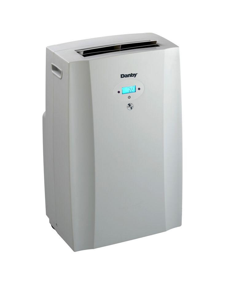 A White Small Air Conditioner Unit