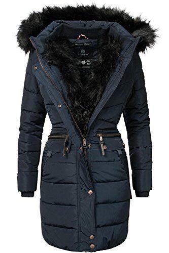 Navahoo Steppmantel »Paula« stylischer Winter Parka m. edlem Fellimitat