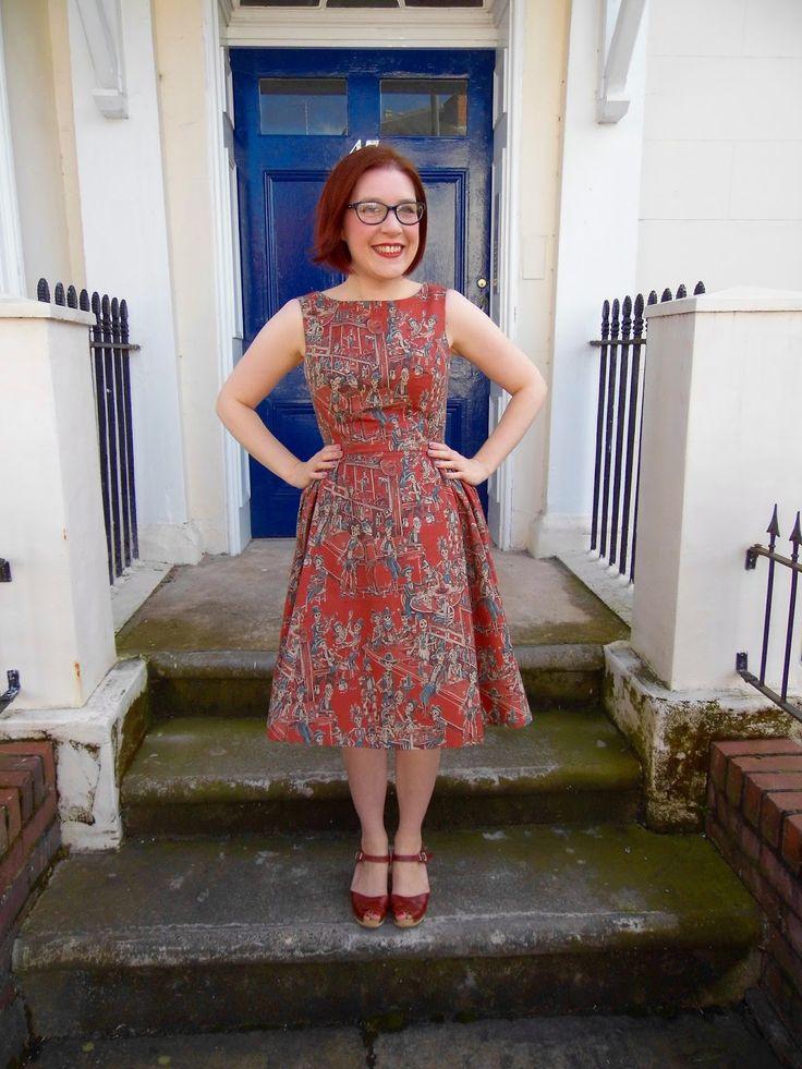 Peaches dress - Christine Haynes Emery dress in Deadwood Saloon fabric by Alexander Henry