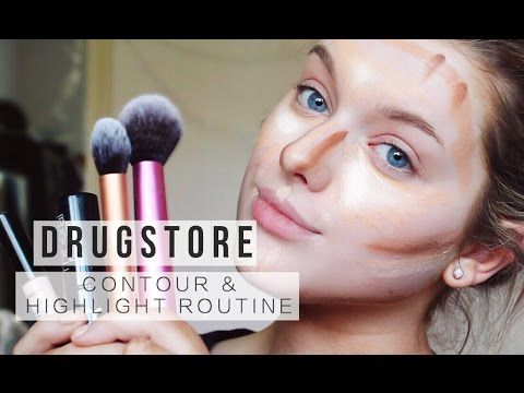 DRUGSTORE Contour & Highlight Routine! | Rachel Leary - YouTube