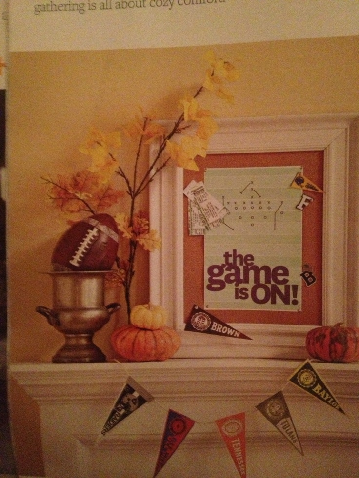If You Love Football Try Something New This Football Season And Bring The Tailgate Party Indoors The Rustic Party Decorations Are A Snap To Put Together