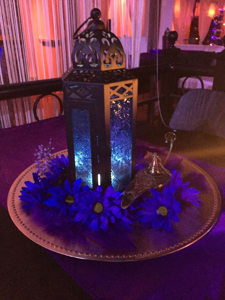 Sweet 16 centerpiece alladin arabian nights theme sweet for Arabian nights decoration ideas
