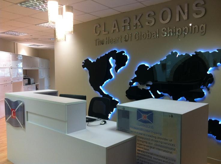 Czeshop Images Modern Office Reception Backdrop Design
