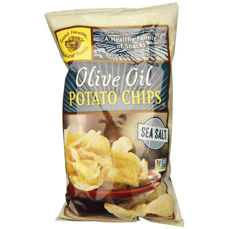 Good Health Natural Foods, Картофельные чипсы с оливковым маслом, морская соль, 5 унций (142 г)
