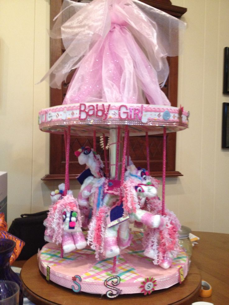 Carousel Diaper Cake Baby Shower Creations Pinterest