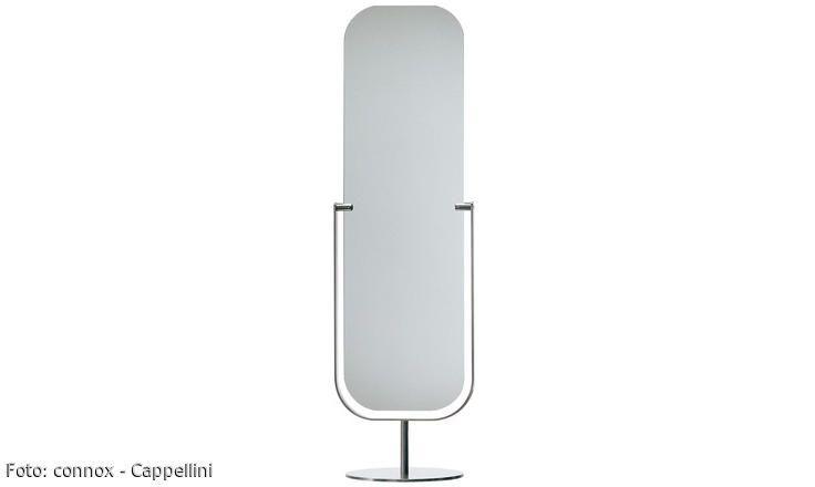 Jasper Morrison hat den zweiseitigen Mirror Bodenspiegel 1997 für das italienische Unternehmen Cappellini entworfen. Schlicht und harmonisch im Design überzeugt Mirror gleichzeitig durch praktische Eigenschaften.