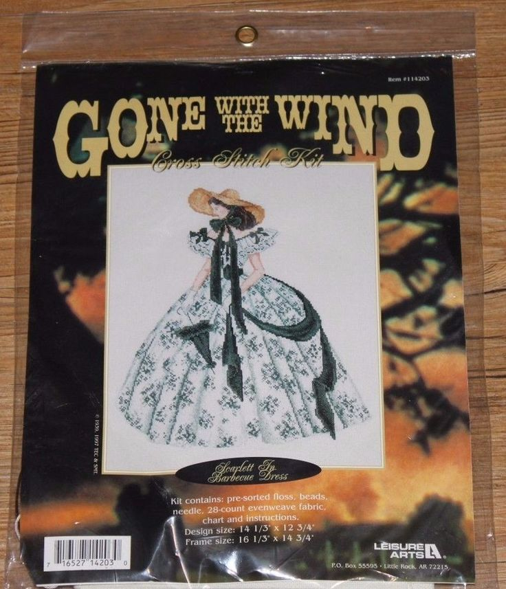Gone With The Wind Scarlett In Barbecue Dress Cross Stitch KIT # 114203 Leisure #LeisureArts