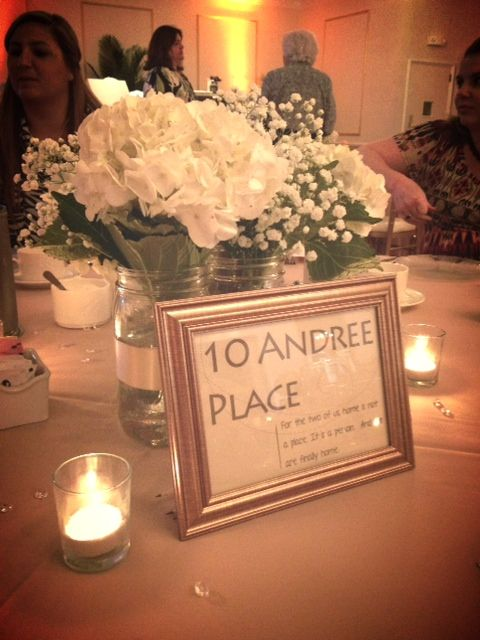 Use locations that are meaningful to the bride and groom as table numbers.