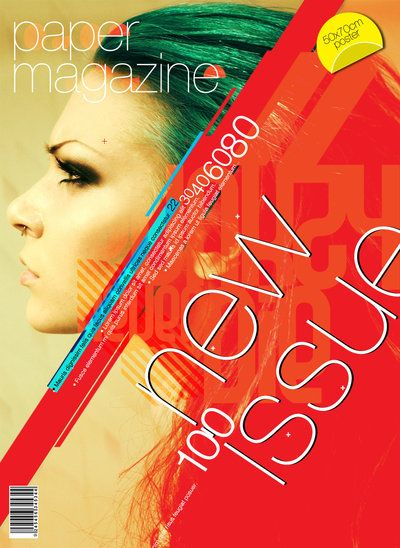 PaperMAGAZINE Cover by palax.deviantart.com on @deviantART #typography #poster #art #graphicdesign #graphicdesigner #urbanart #magazincover #cover