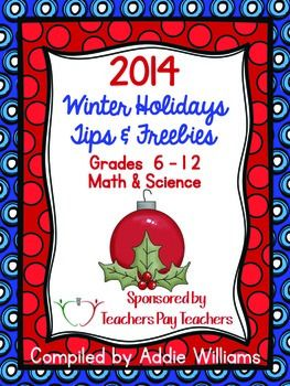453 best math ideas images on pinterest teaching ideas teaching winter holidays tips freebies from a group of secondary teachers specializing in math science a gift from them to you for the holiday season fandeluxe Choice Image