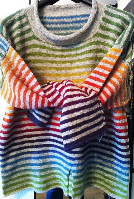 Ravelry: allixxs Kauni rainbow Stripes #knit