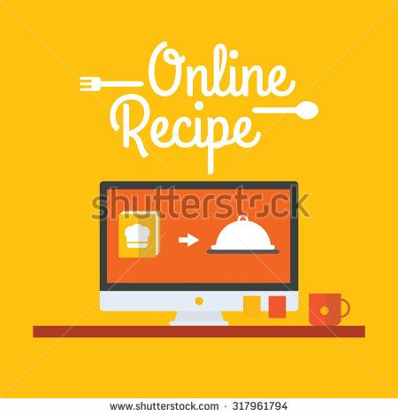 Vector of On line Recipe - stock vector