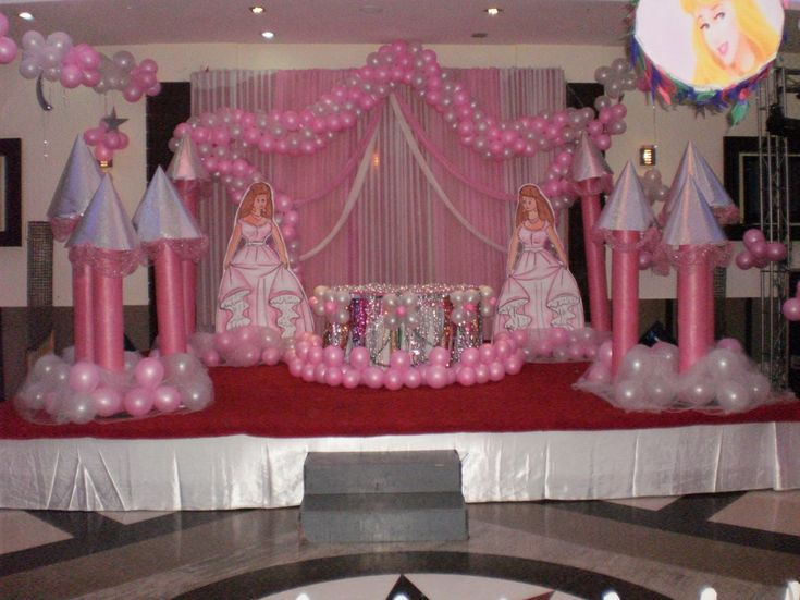 Princess party decorating ideas party ideas amusing for 1st birthday stage decoration