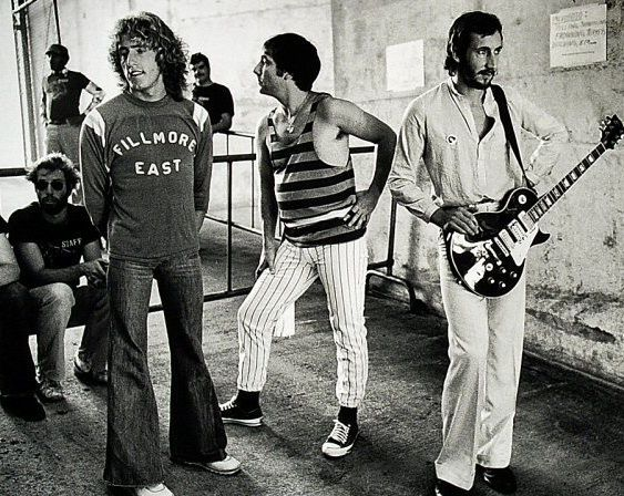 Roger Daltrey, Keith Moon, and Pete Townshend at the Oakland Col. in '76