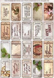 Gorgeous printable xmas Gift tags: Gift, Vintage Christmas, Free Vintage, Christmas Printables, Vintage Printable, Christmas Tags, Free Printables, Vintage Style