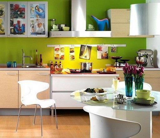 Красочные обои для кухни поднимают настроение