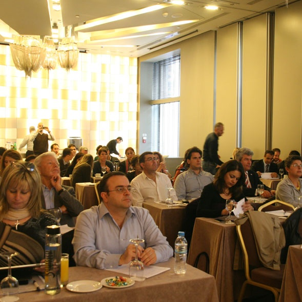 "Photo gallery from the ""Hotel Quality Masterclass"" seminar in Athens, Greece."