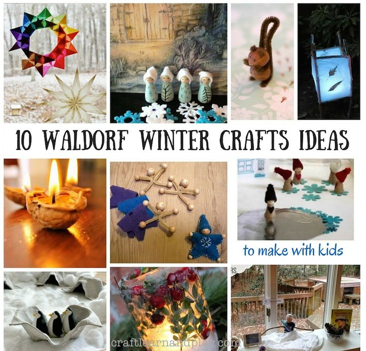10 Waldorf Winter Crafts for Kids | Craft Learn & Play