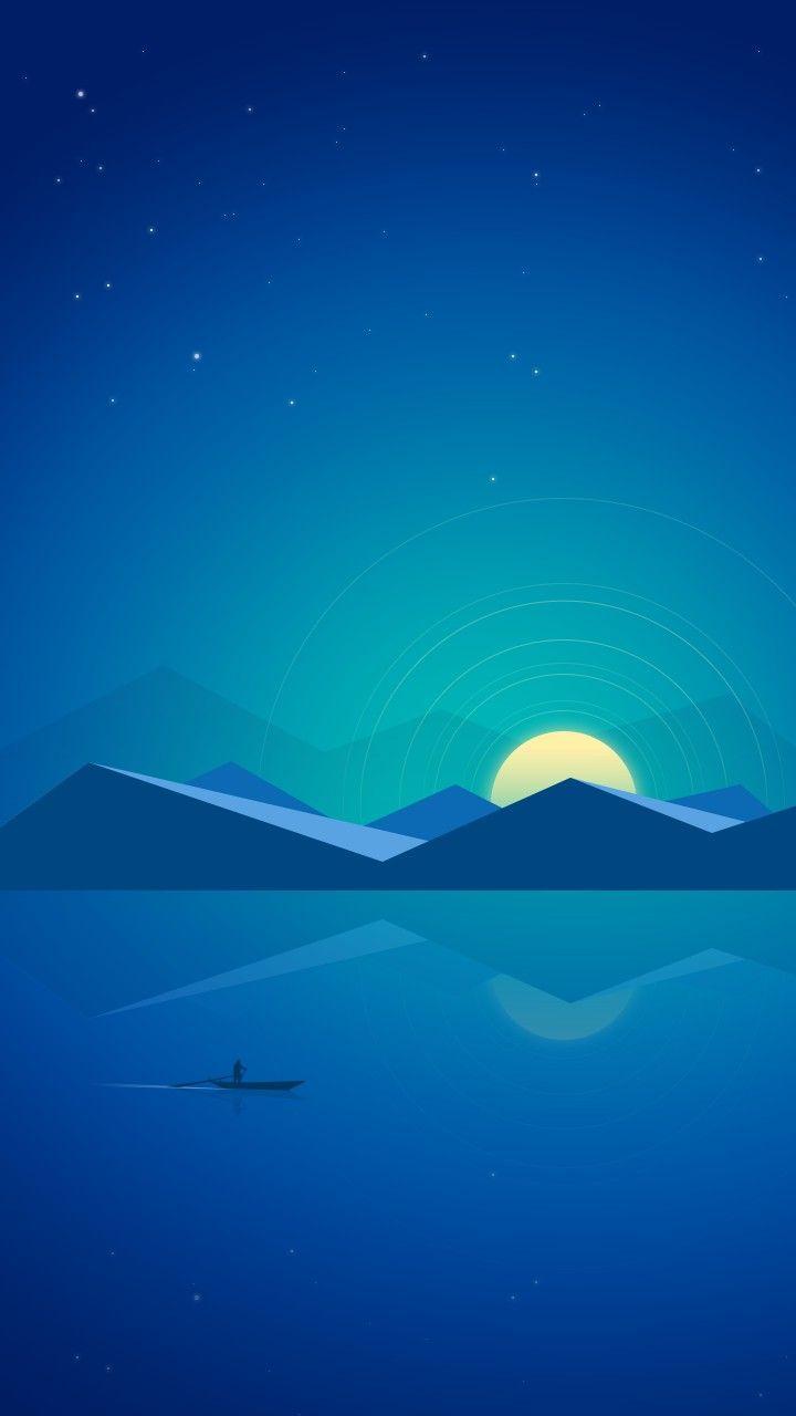 Azul Pôr do sol