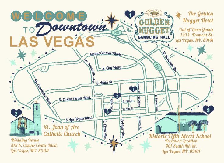 Best Vegas Wedding Invites Images On Pinterest Wedding Stuff - Las vegas street map