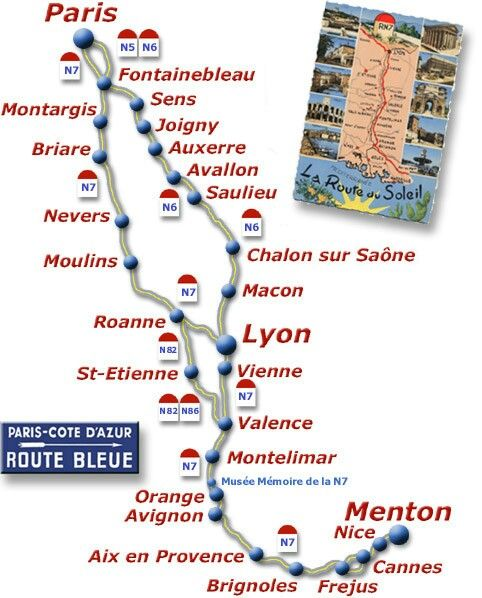 92 best route nationale 7 france images on pinterest for Route nationale 104