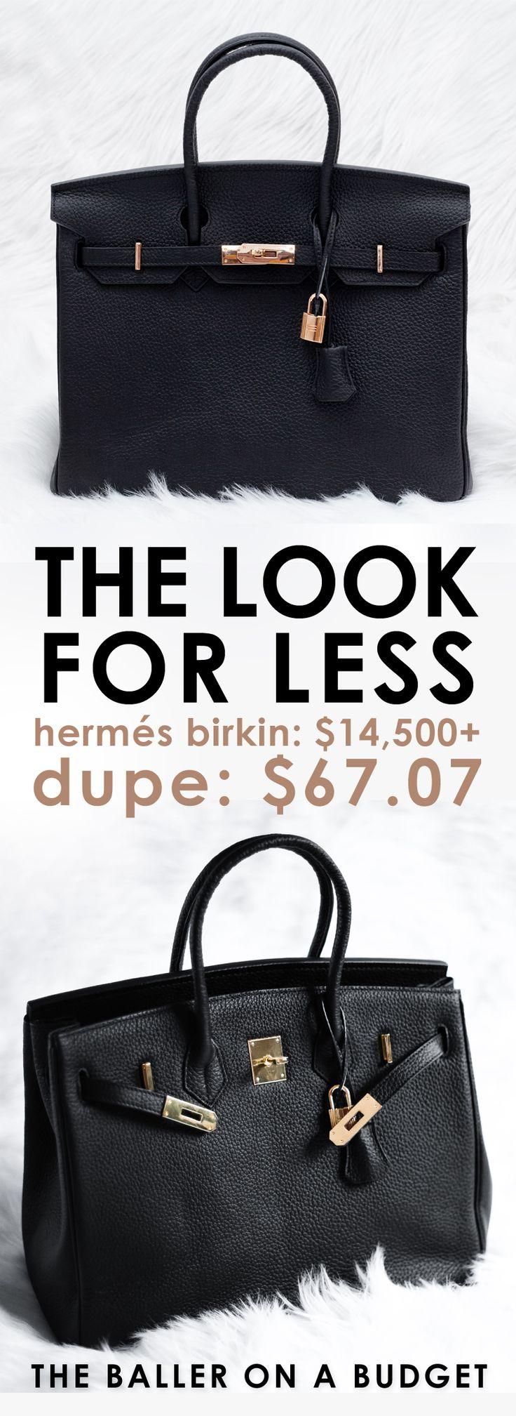 Designer Dupe Herms Birkin 14500 vs