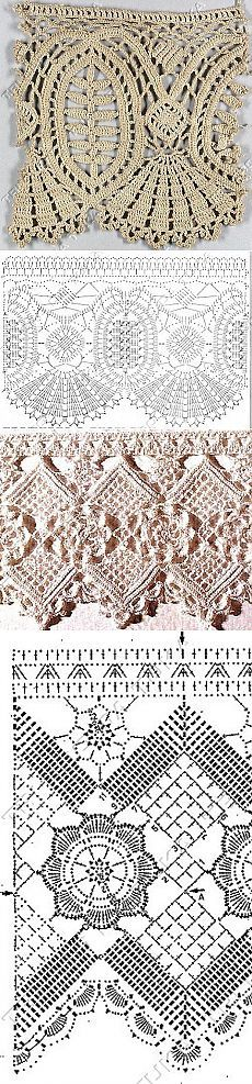 Lace borders or edging