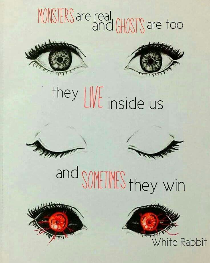 Anime Quotes || Those eyes reminds me of Tokyo Ghoul