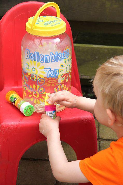 Maak van een limonadetap gewoon een bellentap! Goed idee voor in de zomervakantie :)