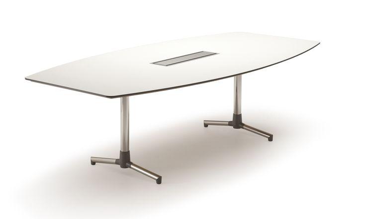 Next Konferansebord - 240x120 med T-fot og C-box - Fora Form