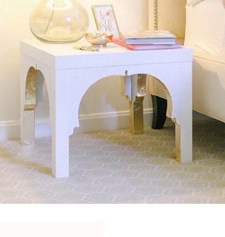 Add a design touch to a #Ikea #Lack #table. | einem Ikea #Lack #Tisch ein besonderes Aussehen verleihen