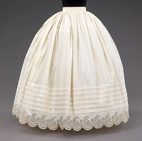 Petticoat (image 1) | American | 1855-65 | cotton | Brooklyn Museum Costume Collection at The Metropolitan Museum of Art | Accession Number: 2009.300.768