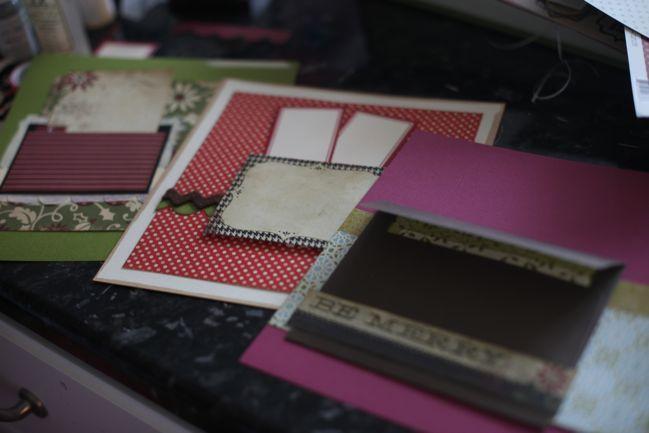 3 ways to prepare journalling pocketsDecember Daily, Christmas Crafts, Journals Pocket, Michelle Barker, Layout, December Scrapbook, Daily Ideas, France Scrapbook, Add Pocket