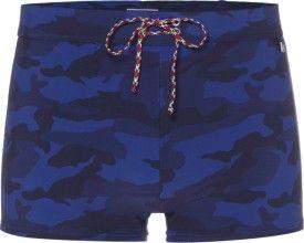 Heren zwemboxer van Tommy Hilfiger met blauwe camouflage print
