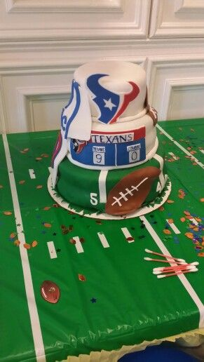 Houston Texans Theme cake-this could be his grooms cake...