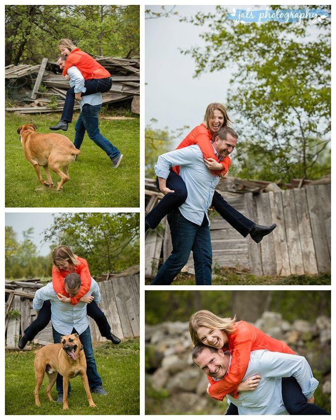 Kingston Engagement with Dog