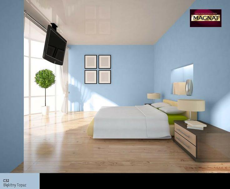 Błękitny Kolor Farby W Sypialni In 2019 Bedroom Decor Furniture