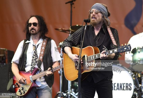 EW ORLEANS, LA - APRIL 30: Mike Campbell (L) and Tom Petty of Tom Petty and The Heartbreakers perform during the 2017 New Orleans Jazz & Heritage Festival at Fair Grounds Race Course on April 30, 2017 in New Orleans, Louisiana.