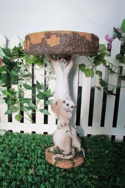 Unique bird bath/feeder or can be a pot plant holder