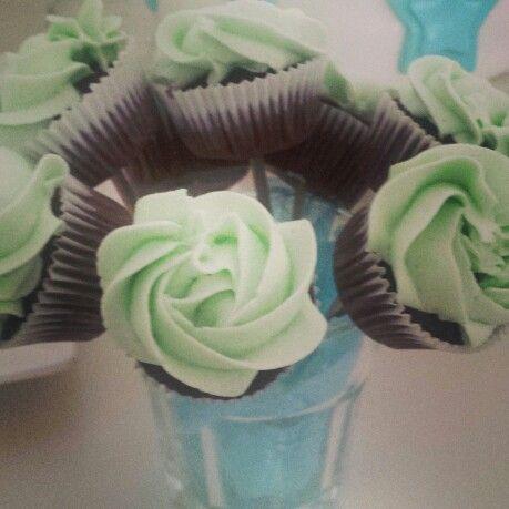 Babyshower mini cupcakes #homemade #cupcakes