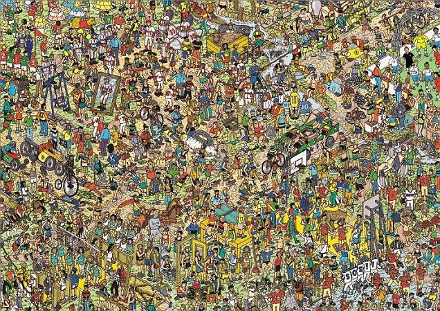 Steven Gerrard and his England team-mates have often been accused of going missing on international duty, but now it's been made fun for all the family, as they feature (somewhere!) in the latest commemorative edition of Where's Wally?