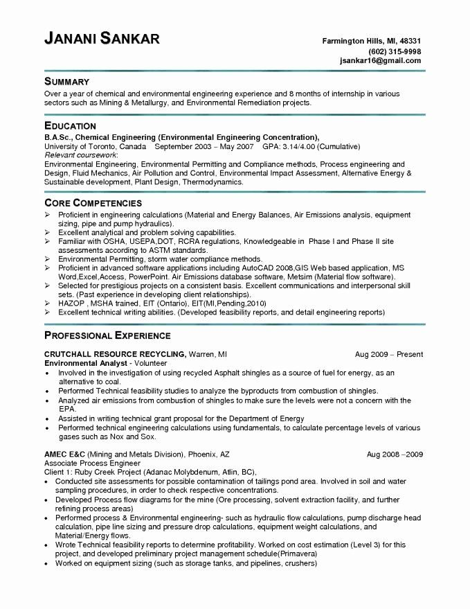 Entry Level Electrical Engineer Resume Lovely 9 10 Engineering Skills For Resume Resume Examples Resume Cover Letter Examples Resume Objective Examples